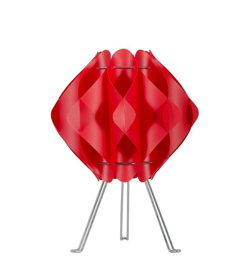 Κόκκινο επιτραπέζιο φωτιστικό σε τρίποδο Saporo s1