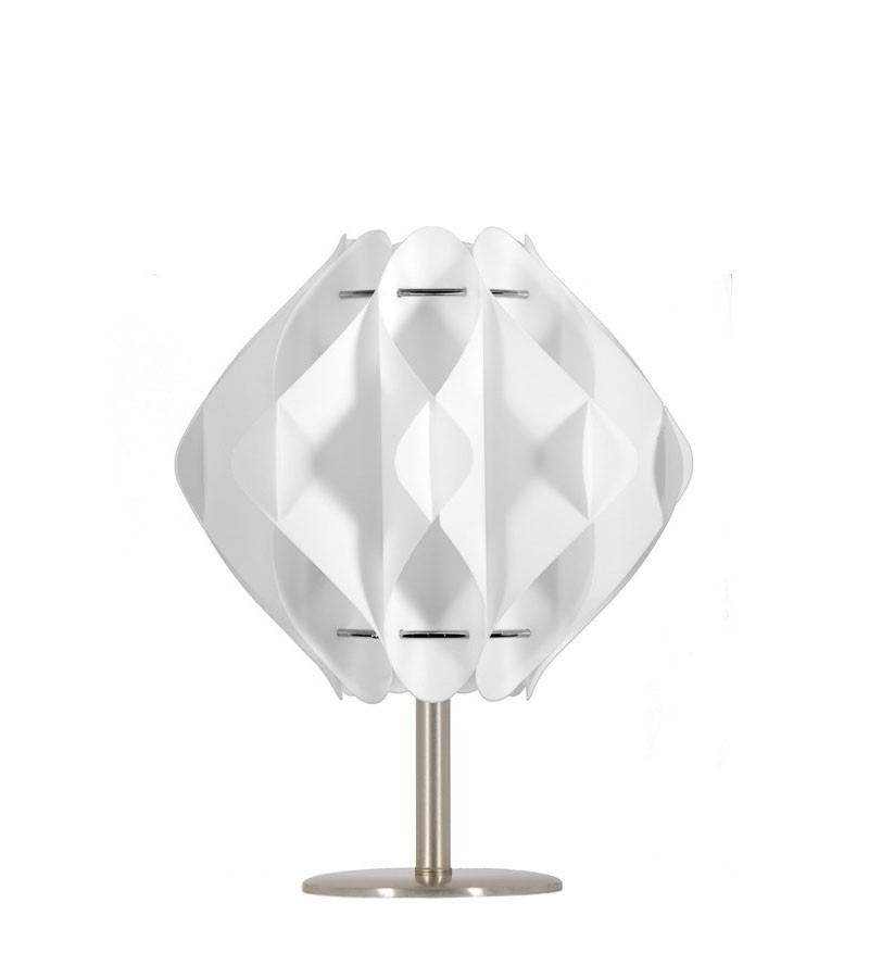 Λευκό επιτραπέζιο φωτιστικό Saporo S1 βάση 10 cm