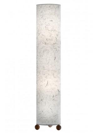 Κυλινδρικό φωτιστικό δαπέδου σε Λευκό χρώμα.