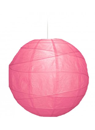 """Χάρτινο Φωτιστικό Μπάλα """"Akari"""" Lamp - Φ-40cm - Φούξια"""
