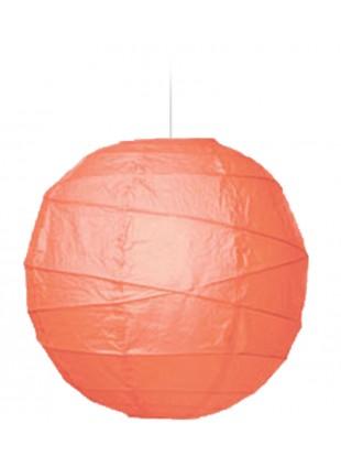 """Χάρτινο Φωτιστικό Μπάλα """"Akari"""" Lamp - Φ-40cm -  Ροδί"""
