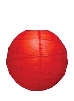 """Χάρτινο Φωτιστικό Μπάλα """"Akari"""" Lamp - Φ-40cm - Κόκκινο"""
