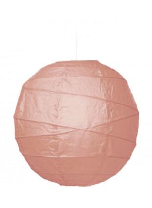 """Χάρτινο Φωτιστικό Μπάλα """"Akari"""" Lamp - Φ-40cm - Σομόν"""