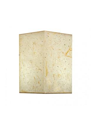 Αντίκο Επιτραπέζιο Αμπαζούρ Τετράγωνο από Ριζόχαρτο Υ40cm