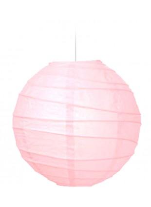 """Χάρτινο Φωτιστικό Μπάλα """"Akari"""" Lamp - Φ-40cm - Βaby Ροζ"""