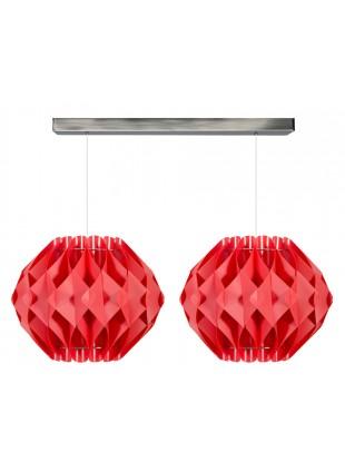 Κόκκινο διφωτο κρεμαστό φωτιστικό οροφής Nova M2