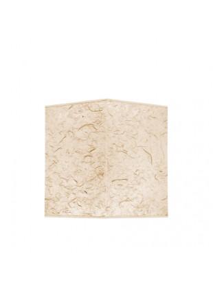 Εκρού Επιτραπέζιο Αμπαζούρ Τετράγωνο από Ριζόχαρτο Υ30cm