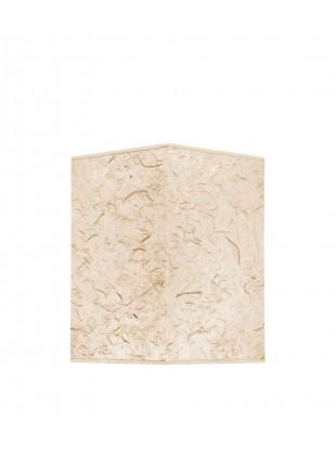 Εκρού Τετράγωνο αμπαζούρ από χειροποίητο ριζόχαρτο