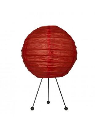 Κόκκινο Χάρτινο Επιτραπέζιο Φωτιστικό με Τρίποδο