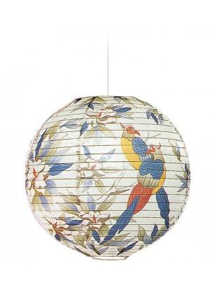 Κρεμαστό Χάρτινο Φωτιστικό - Φύση με Πουλιά