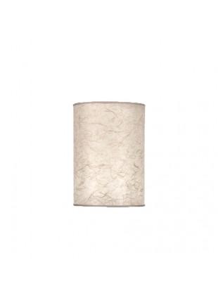Εκρού Επιτραπέζιο Αμπαζούρ Κυλινδρικό από Ριζόχαρτο Δ-13cm