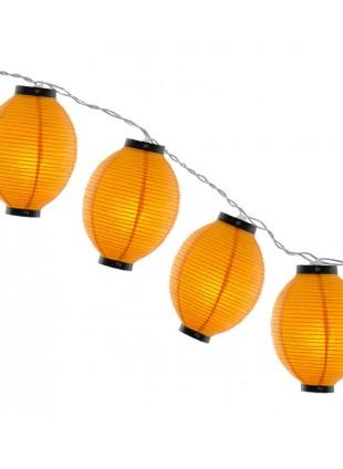 Φωτιστικό Γιρλάντα Χάρτινη Κίτρινη Αυγό 12m