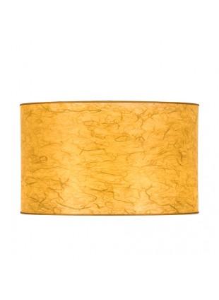 Κίτρινο Επιτραπέζιο Αμπαζούρ Κυλινδρικό από Ριζόχαρτο