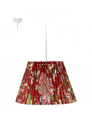 Πλισέ κρεμαστό φωτιστικό οροφής- Λουλούδια Κόκκινο