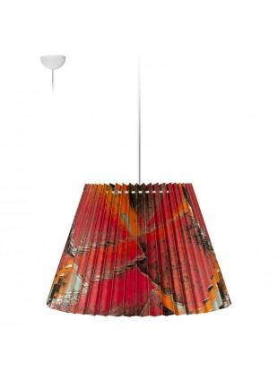 Πλισέ κρεμαστό φωτιστικό οροφής - Medina Κόκκινο