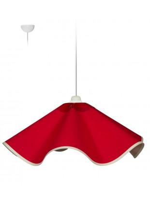 Κόκκινο μοντέρνο κρεμαστό φωτιστικό από ύφασμα
