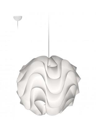 Φωτιστικό λευκό κρεμαστό οροφής Wave M