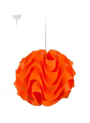 Πορτοκαλί κρεμαστό φωτιστικό οροφής Wave M