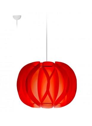 Κρεμαστό Μοντέρνο Φωτιστικό Οροφής Luna  - Κόκκινο