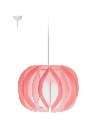 Κρεμαστό Μοντέρνο Φωτιστικό Οροφής Luna - Ροζ