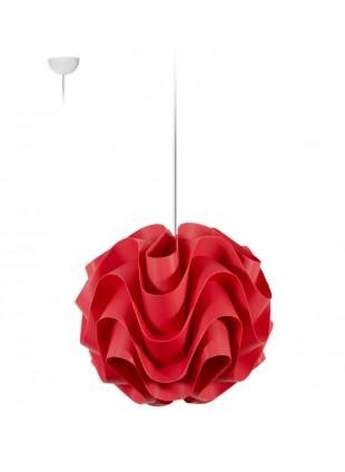 Κόκκινο κρεμαστό φωτιστικό οροφής Wave S