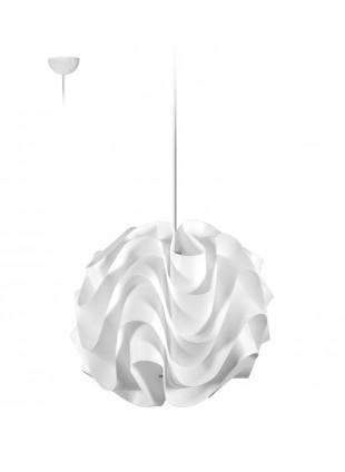 Λευκό κρεμαστό φωτιστικό οροφής Wave S