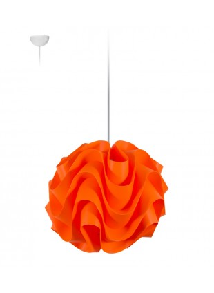 Πορτοκαλί κρεμαστό φωτιστικό οροφής Wave S