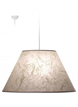 Λευκό Φωτιστικό Οροφής Κωνικό από Ριζόχαρτο
