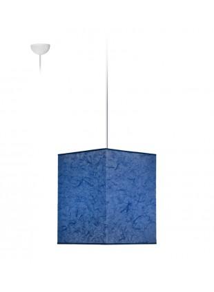 Ραφ Κρεμαστό Φωτιστικό Τετράγωνο Αμπαζούρ από Ριζόχαρτο 25x25x30