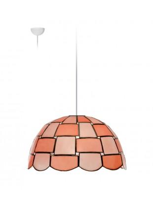 Ροζ οστράκινο φωτιστικό οροφής