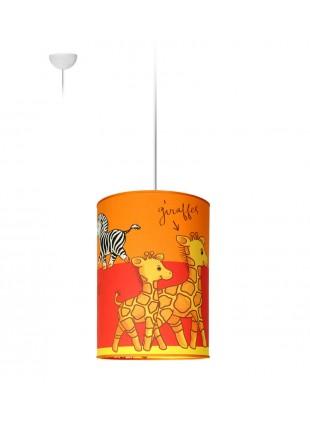 Παιδικό Κρεμαστό Φωτιστικό Οροφής Ζέβρα - Καμηλοπάρδαλη