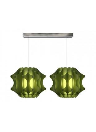 Κρεμαστό φωτιστικό οροφής σε Πράσινο χρώμα.