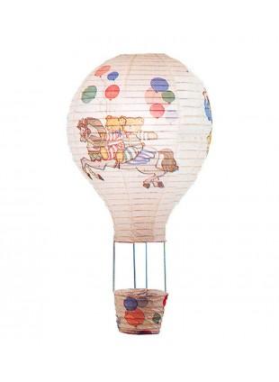 Κρεμαστό χάρτινο παιδικό φωτιστικό σε σχήμα αερόστατο