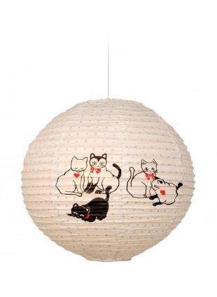 Κρεμαστό χάρτινο φωτιστικό οροφής με σχέδιο γάτες.
