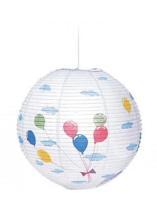 Κρεμαστό Χάρτινο Παιδικό Φωτιστικό Μπαλόνια
