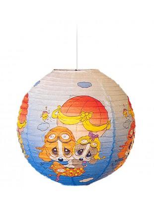 Κρεμαστό Χάρτινο Παιδικό Φωτιστικό Sad Sam Αερόστατο