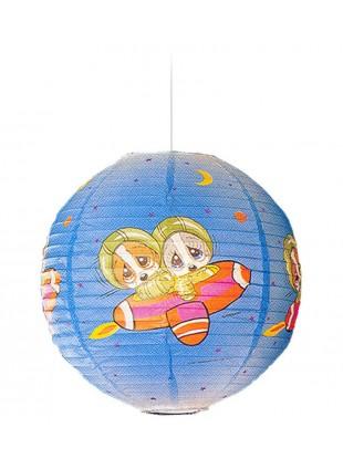 Κρεμαστό Χάρτινο Παιδικό Φωτιστικό Sad Sam Διαστημόπλοιο