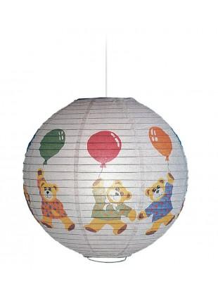 Χάρτινο Παιδικό Φωτιστικό Αρκουδάκια με μπαλόνια