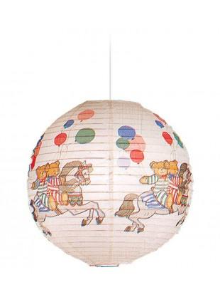 Κρεμαστό Χάρτινο Παιδικό Φωτιστικό Aρκουδάκια Carousel