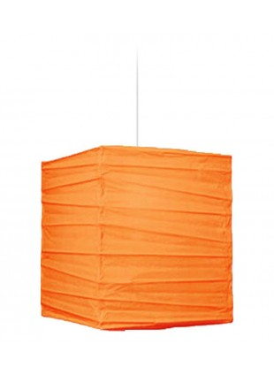 Τετράγωνο Χάρτινο Φωτιστικό 25 x 25 x 30 cm - Βερυκοκί