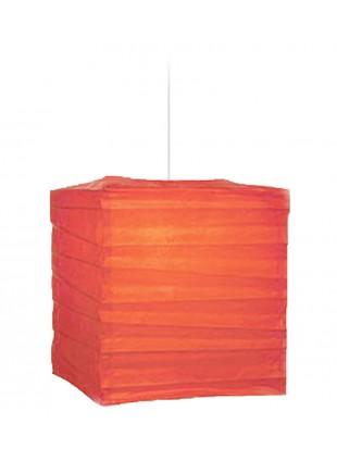 Τετράγωνο Χάρτινο Φωτιστικό  25x25x30 cm - Καρπουζί