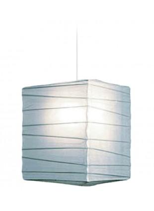 Τετράγωνο Χάρτινο Φωτιστικό 25 x 25 x 30 cm - Λευκό