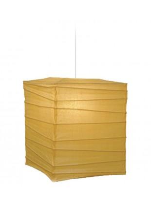 Τετράγωνο Χάρτινο Φωτιστικό 25 x 25 x 30 cm - Μπεζ
