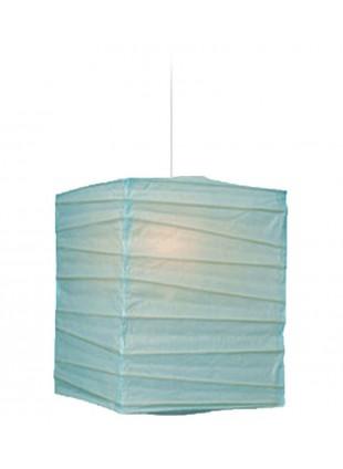 Τετράγωνο Χάρτινο Φωτιστικό 25 x 25 x 30 cm - Σιέλ