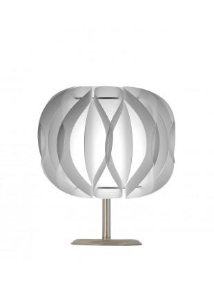 Λευκό επιτραπέζιο φωτιστικό Luna βάση 10 cm