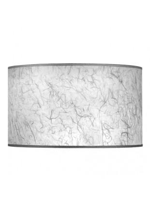 Λευκό Επιτραπέζιο Αμπαζούρ Κυλινδρικό από Ριζόχαρτο Δ-45cm Y-23cm