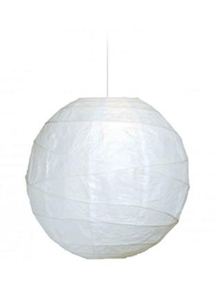 Λευκό Φωτιστικό από ριζόχαρτο και Bamboo Φ-60cm