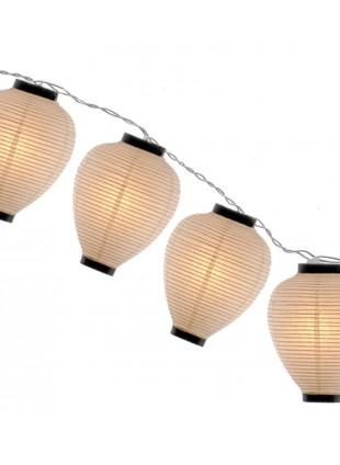 Γιρλάντα με Διακοσμητικά Φωτιστικά σε Σχήμα Κιούπι 8 μέτρων από Ριζόχαρτο