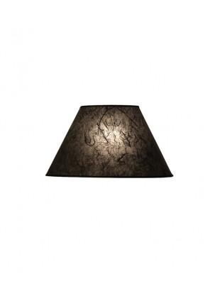Μαύρο Επιτραπέζιο Αμπαζούρ Κωνικό από Ριζόχαρτο Δ-20cm