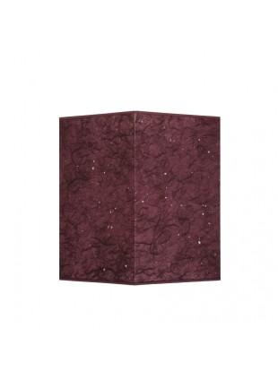 Μελιτζανί Επιτραπέζιο Αμπαζούρ Τετράγωνο από Ριζόχαρτο Υ35cm